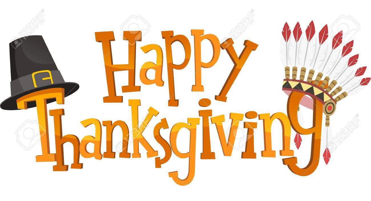 Happy Thanksgiving Banner Sign, vector illustration image..