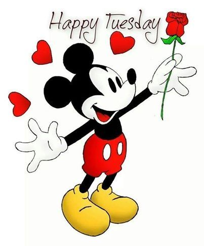 Happy Tuesday quotes quote disney mickey mouse days of the.