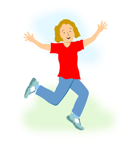 A Woman Running Clipart Happy.