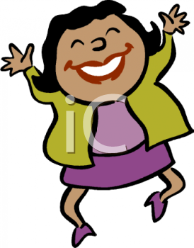 Happy Woman Clipart.