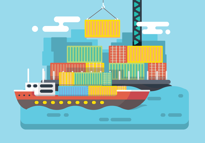 Shipping Harbour Vector.