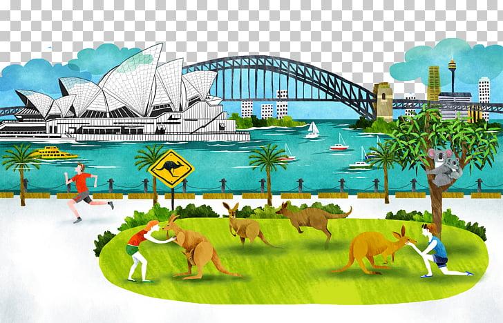 Sydney Opera House Sydney Harbour Bridge Port Jackson City.