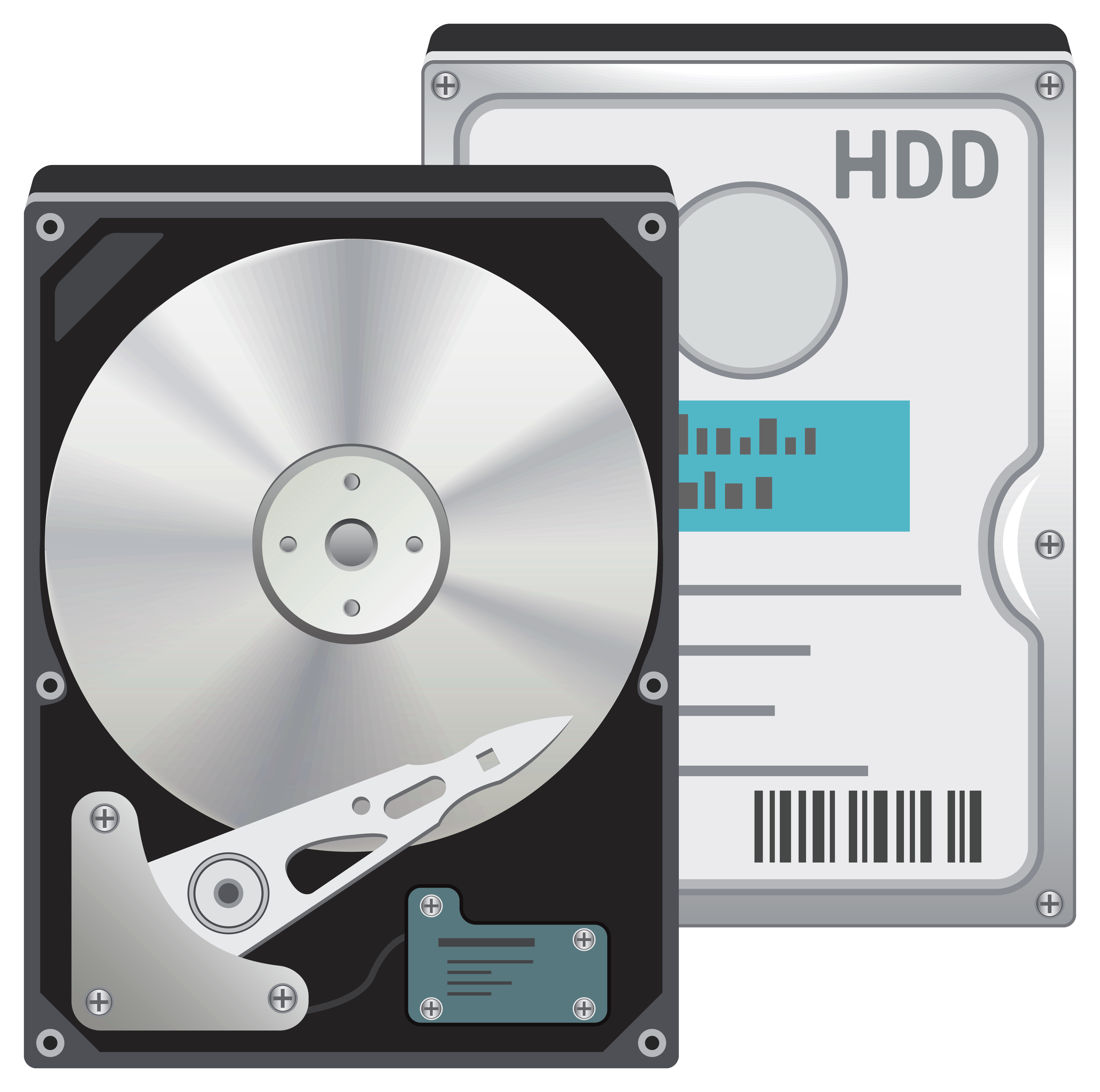 Hard Disk Drive HDD PNG Clipart.
