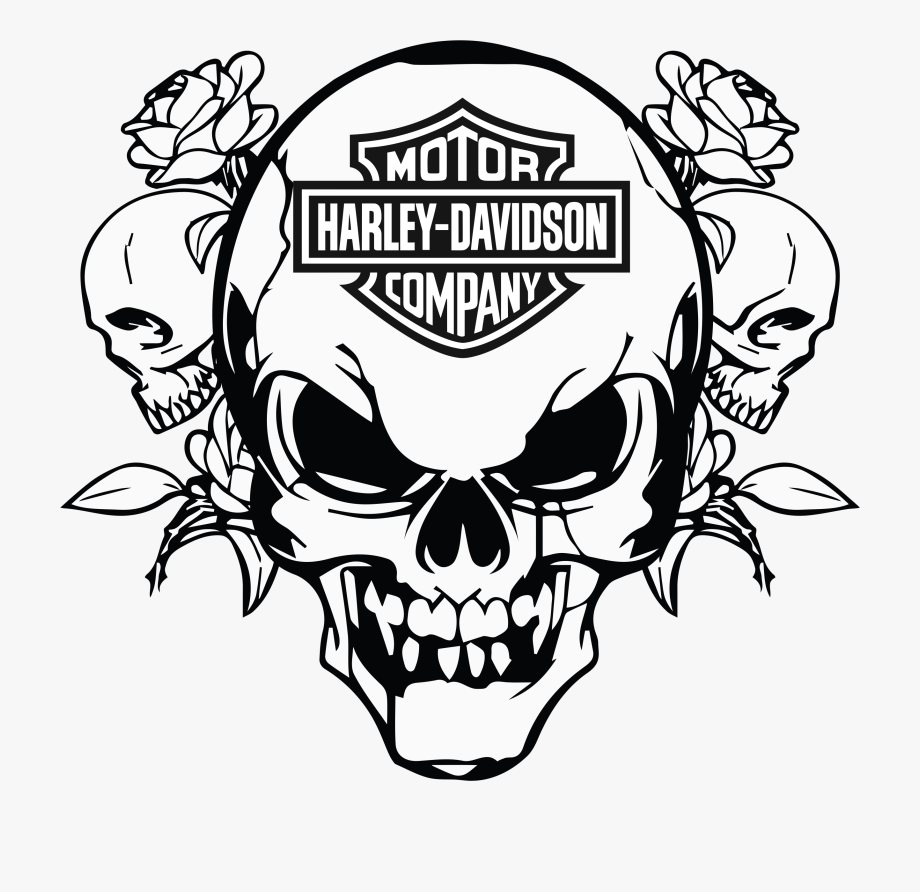 Motorcycle Clipart Skull.