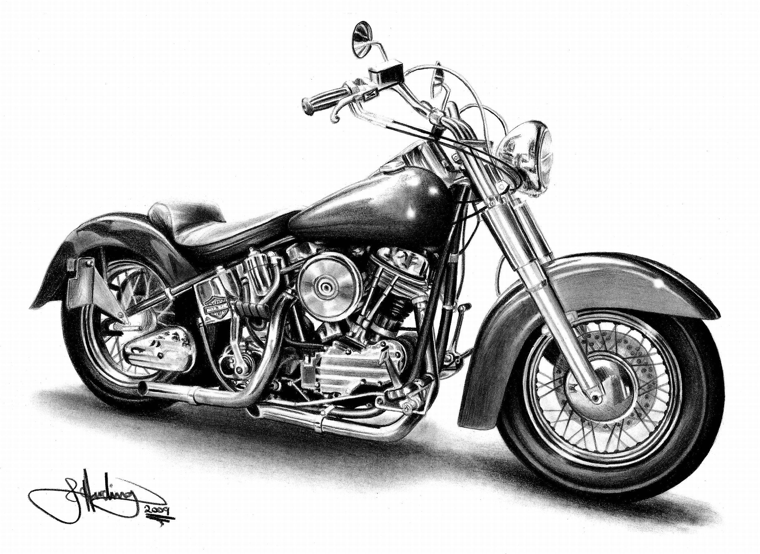 Motorcycle black and white harley davidson motorcycle clipart.