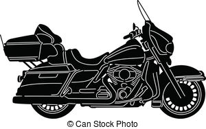 Motorcycle black and white motorcycle clipart harley davidson pencil.