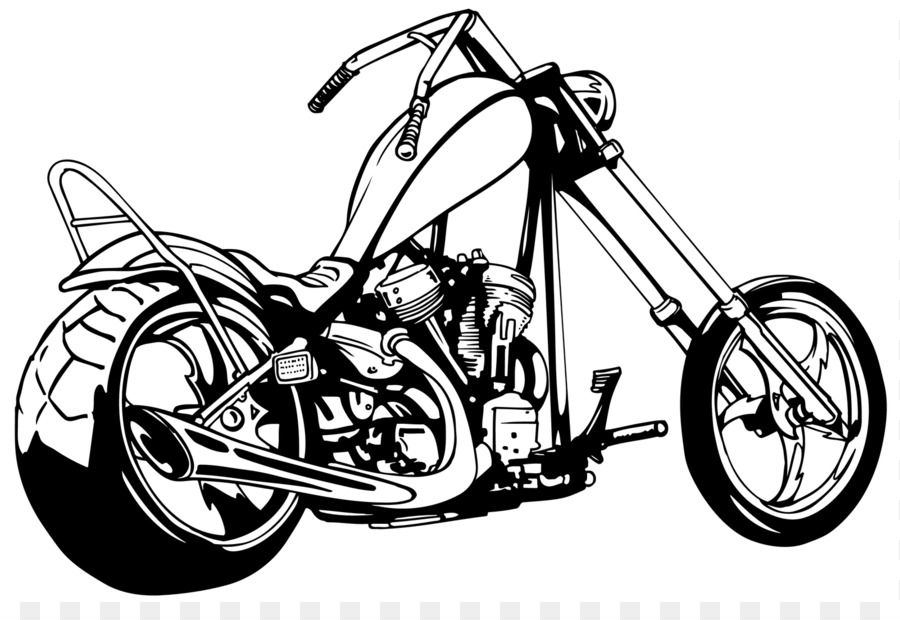Chopper Motorcycle Harley Davidson Clip Art Cowboy Advanced Clipart.