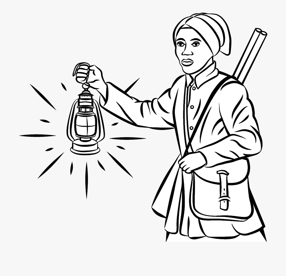 Harriet Tubman Free Colouring Page, Links & Resources.