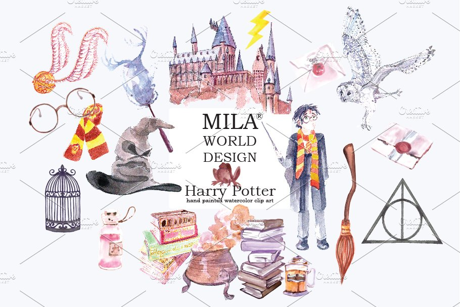 Harry Potter clipart ~ Illustrations ~ Creative Market.