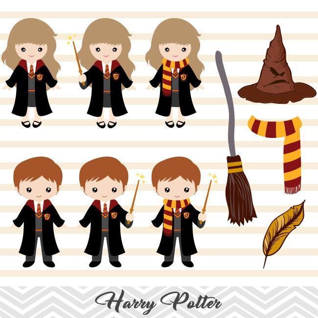 Harry Potter Digital Clipart, Harry Potter Clip Art, 00090.