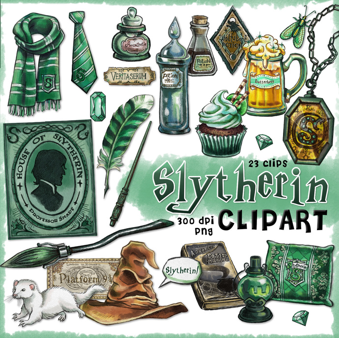 Slytherin clipart, Harry Potter clipart,.