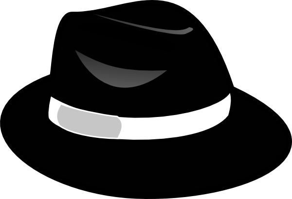 Hat black and white hat clip art black and white free.