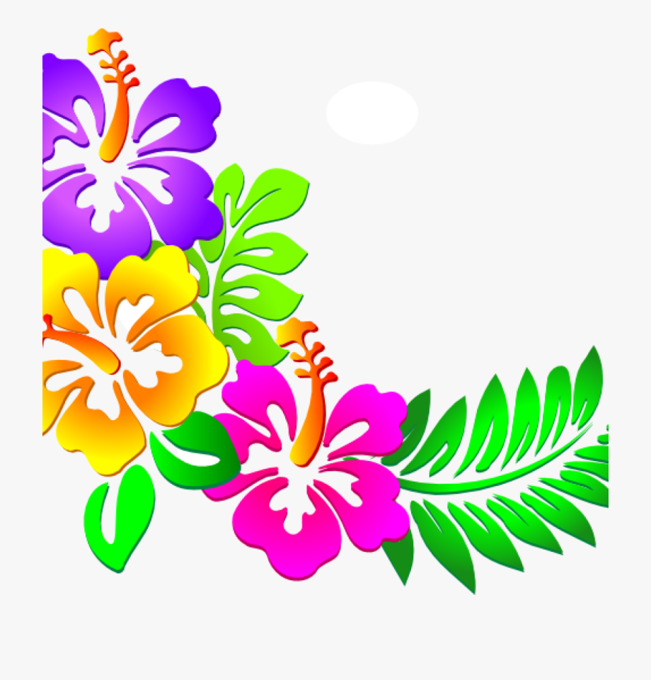 Hawaiian Flower Clipart Hawaiian Flower Clip Art Tropical.