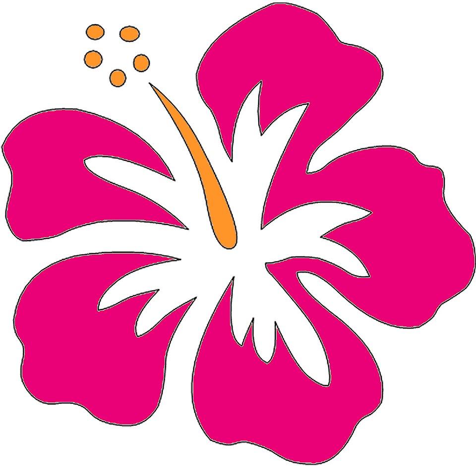 618 Hawaiian Flower free clipart.