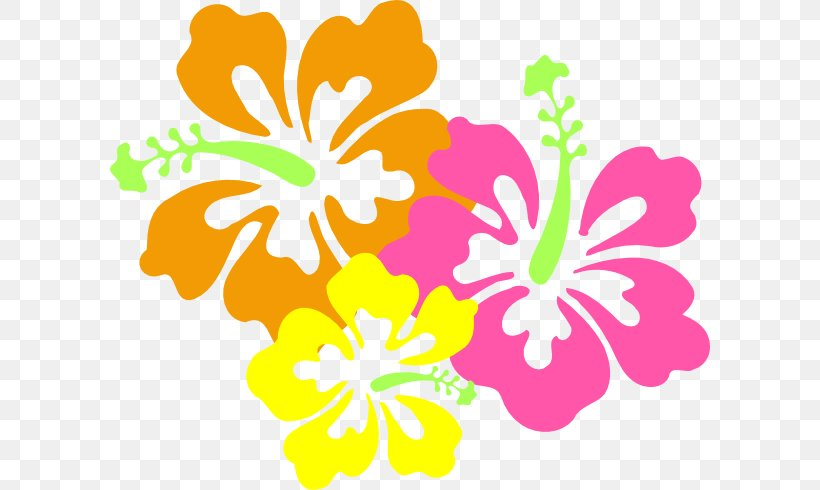 Shoeblackplant Hawaiian Hibiscus Flower Clip Art, PNG.