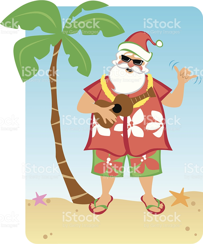 Hawaiian Christmas Clipart.