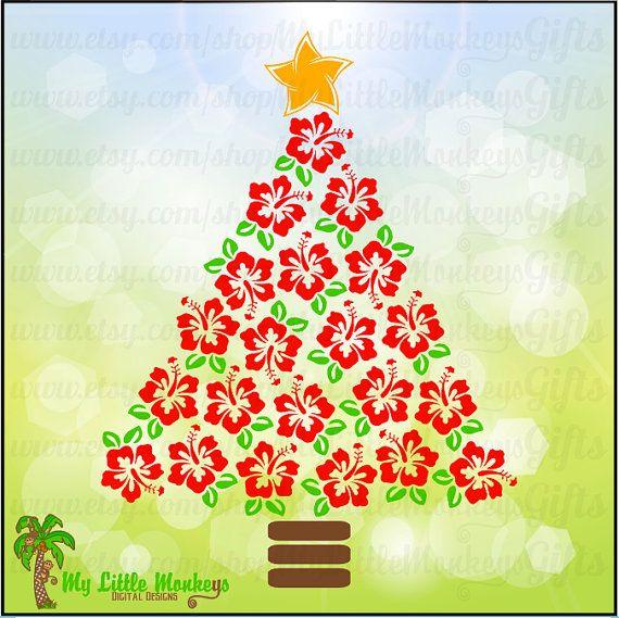 Hawaiian Christmas Tree Clipart.