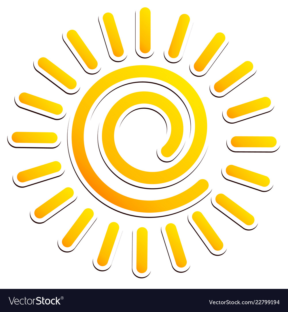 Cool swirling sun clipart.