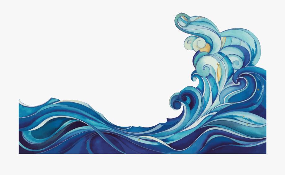 Vector Cartoon Waves Wave Free Clipart Hd.