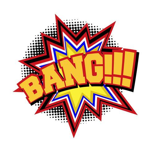 BANG comic text sound effect.
