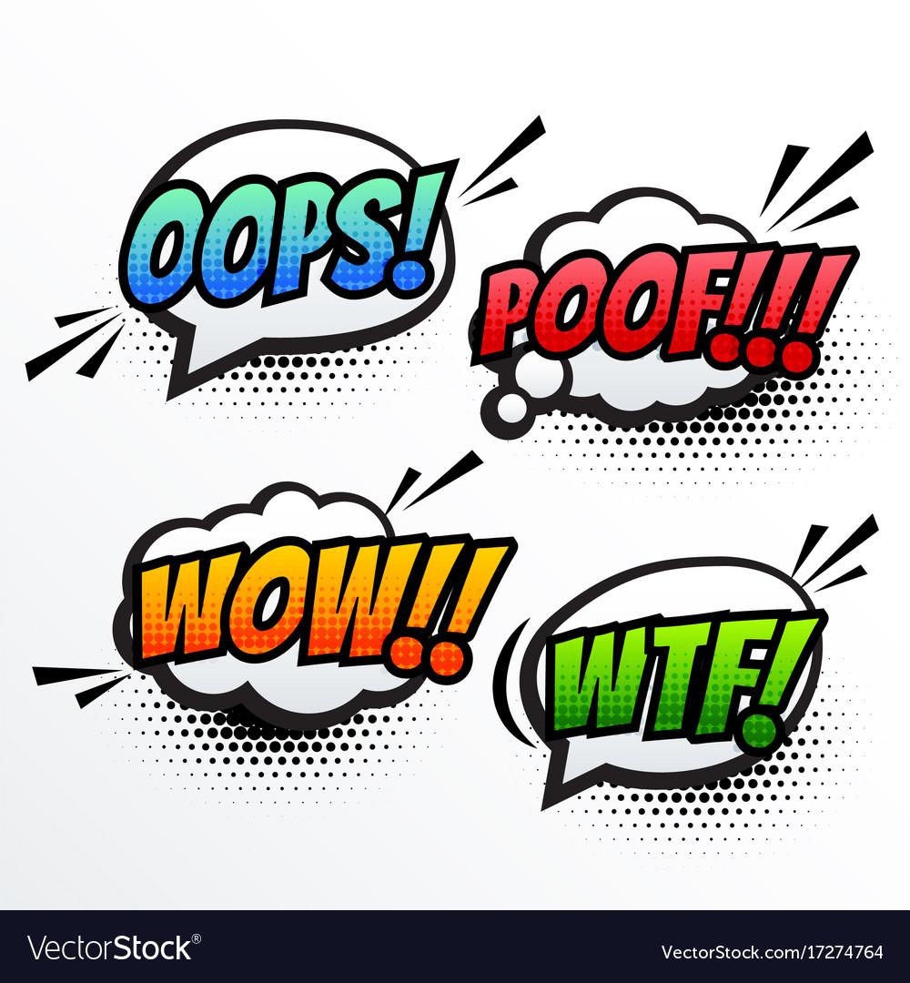 Comic text sound effect pop art.
