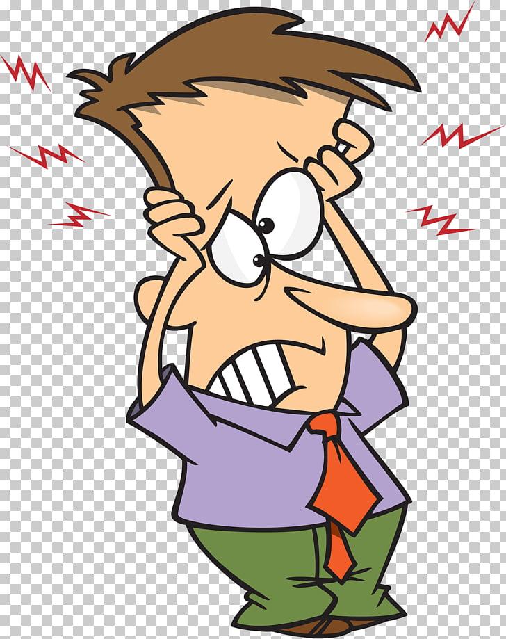 Cartoon , headache PNG clipart.