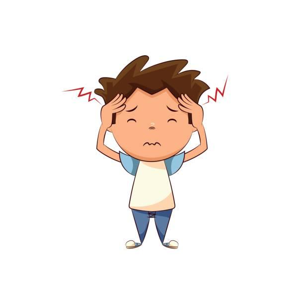Child Headache Clipart.