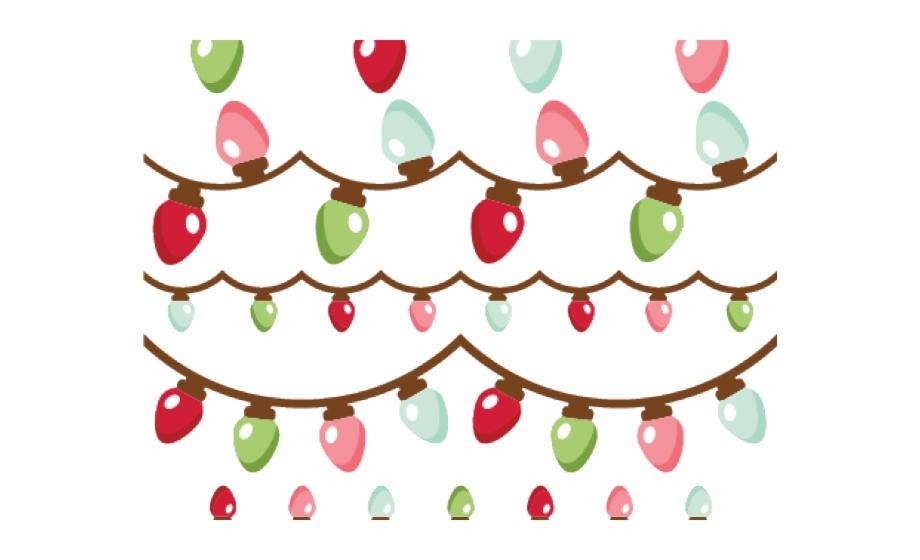 Christmas Lights Clipart Header.