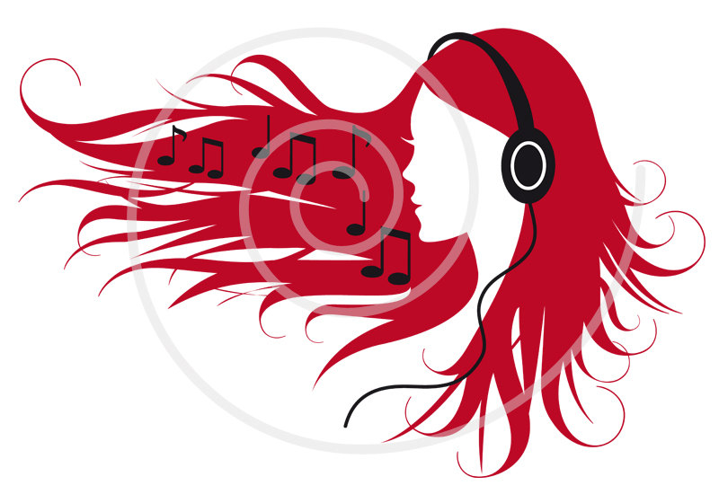 Headphones Music Notes: Clipart Headphones With Music Notes