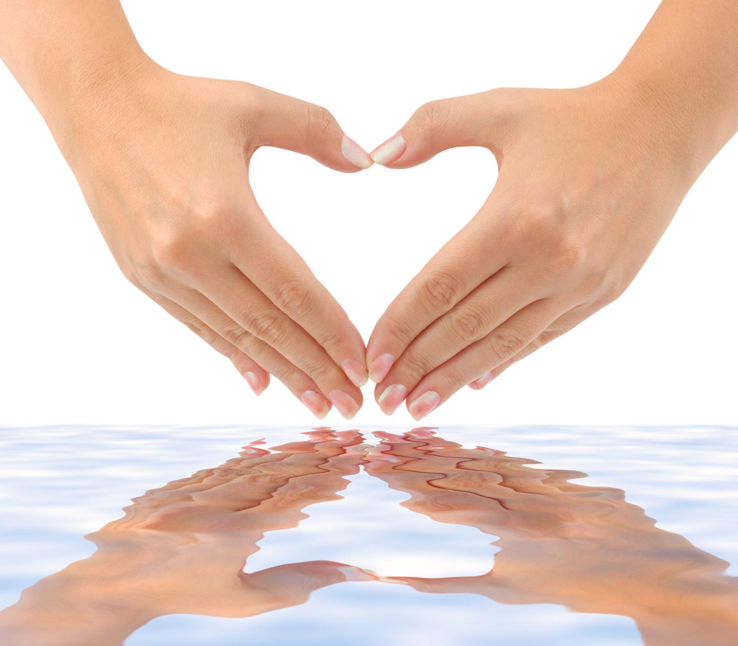 Reiki Healing Hands Clip Art.
