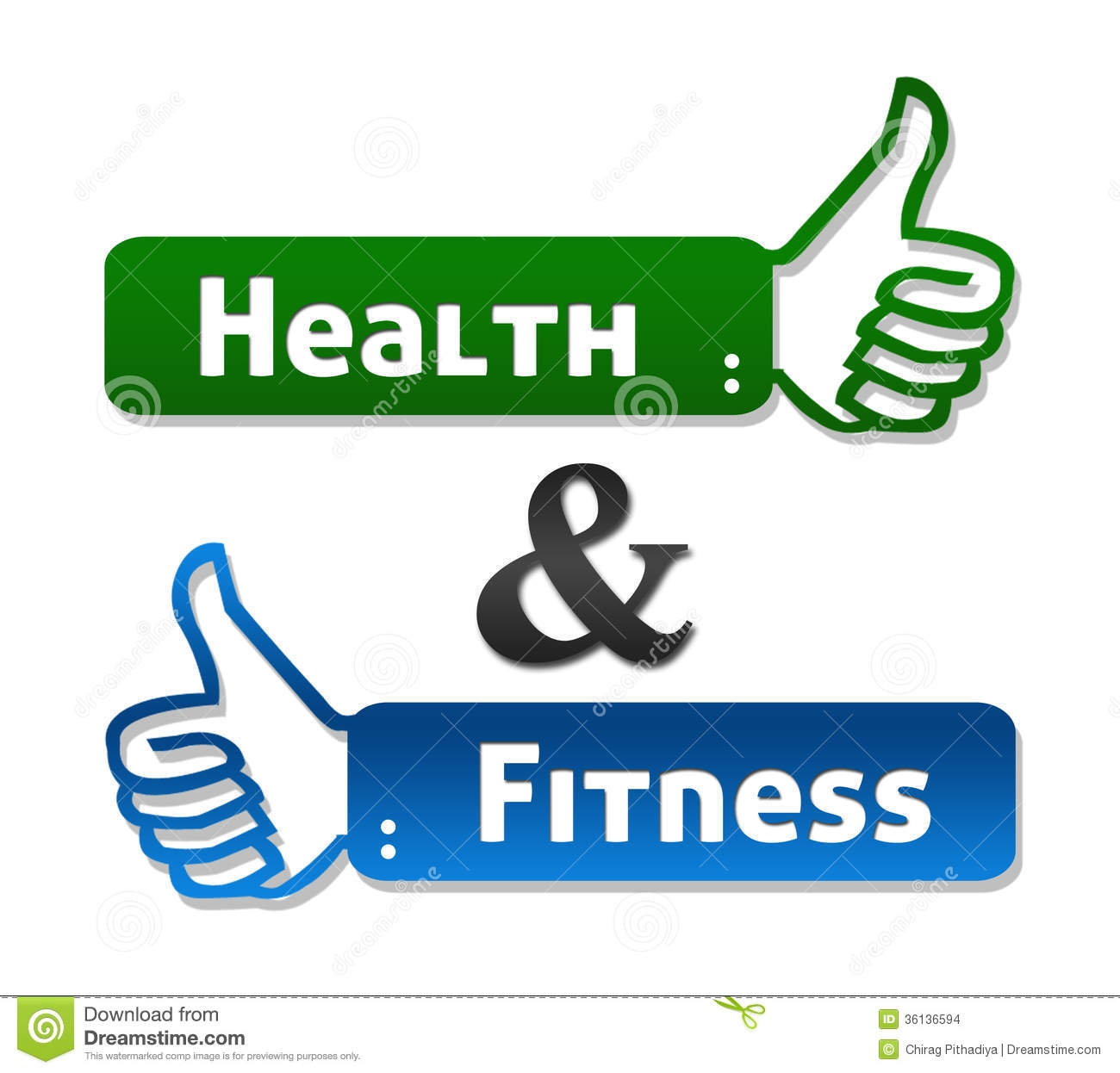 Health And Fitness Clipart.