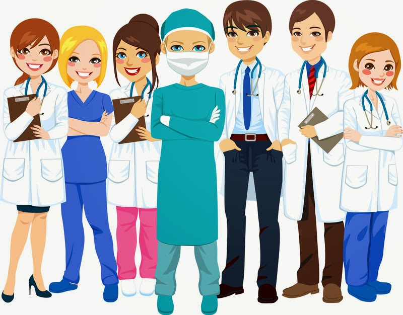 Health Care Professionals Clipart.