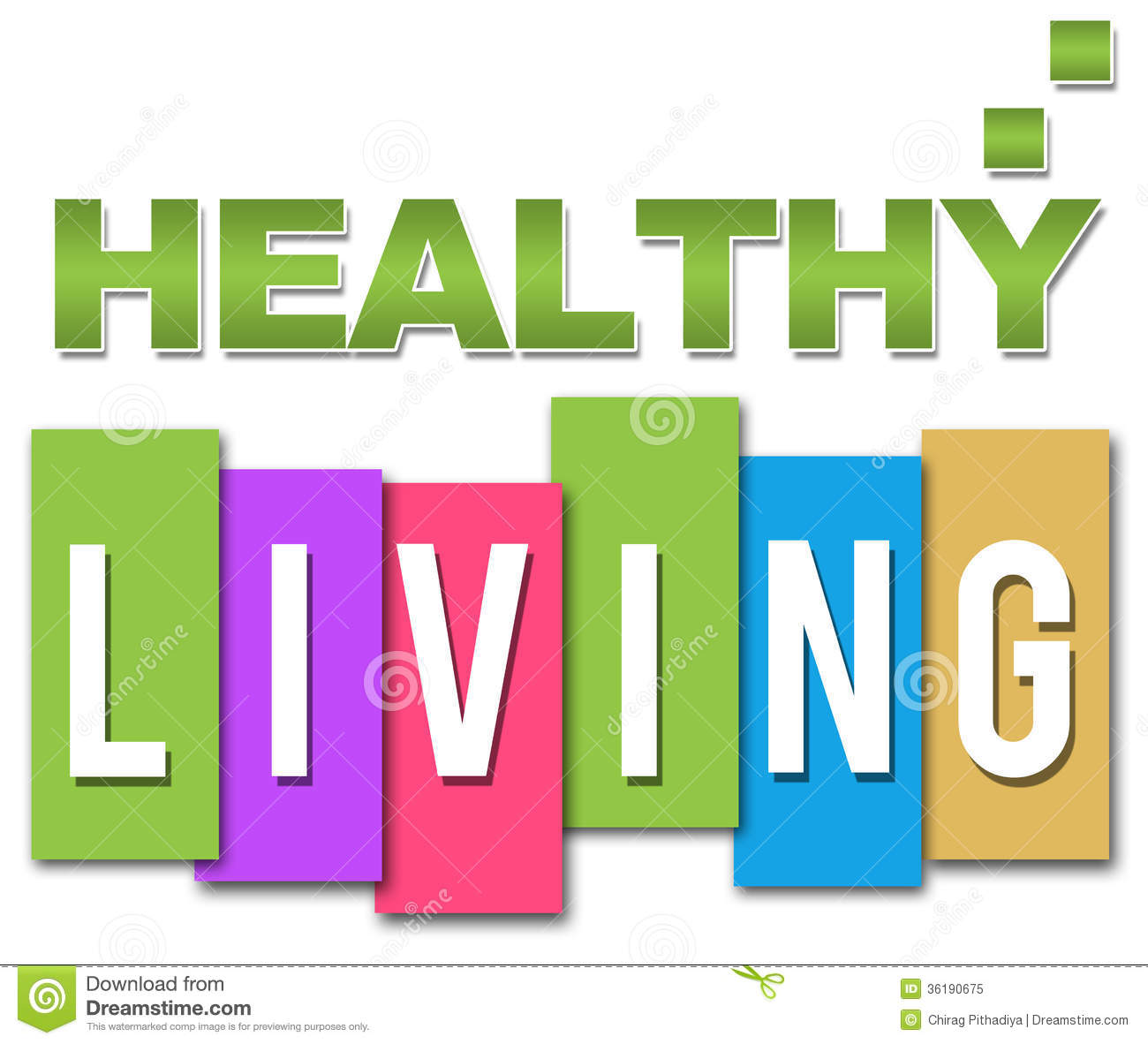 Healthy Living Professional Colourful Royalty Free Stock Photo.
