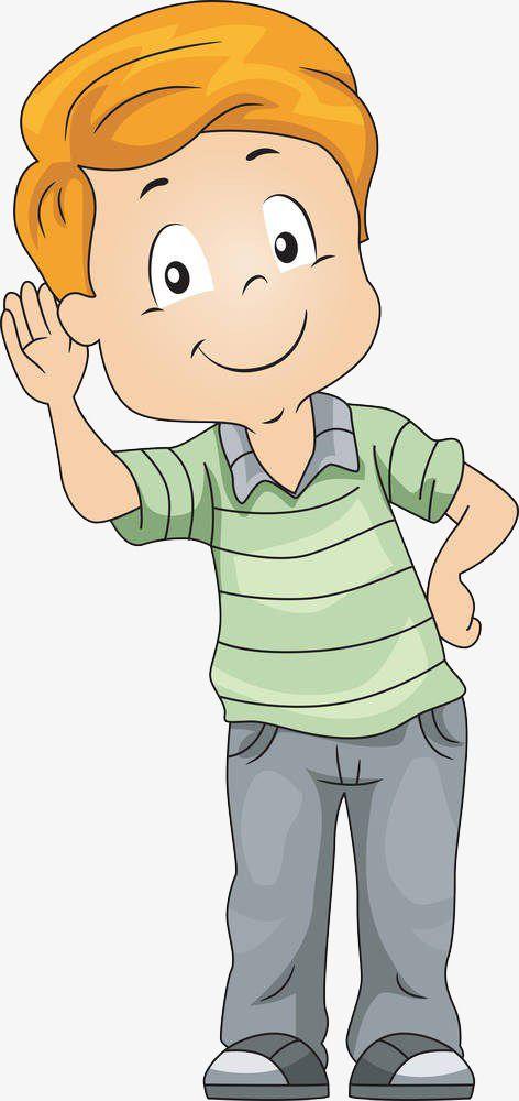 Raise Your Ears And Hear The Boy, Boy Clipart, Cartoon Hand.