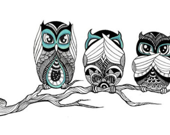 See No Evil Hear No Evil Frogs Clipart.