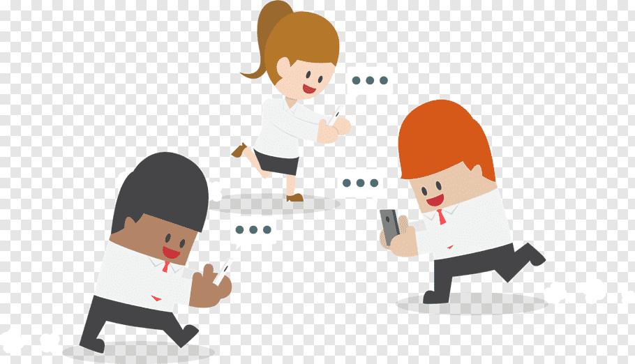 Smartphone, Businessperson, Cartoon, Social Media, Addiction.