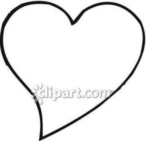 462 Heart Black And White free clipart.