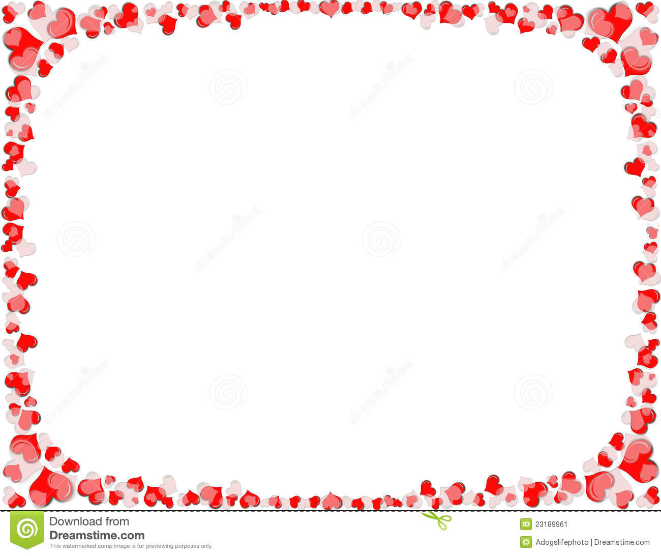 Heart Border Royalty Free Stock Photos.
