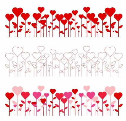 Hearts border clip art.