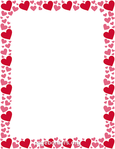 Free Heart Borders: Clip Art, Page Borders, and Vector Graphics.
