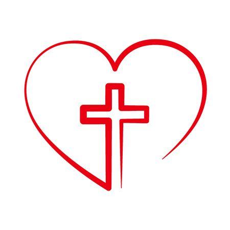 Heart Clipart Cross.