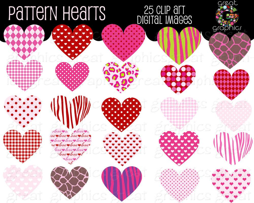 Heart Clipart With Design.