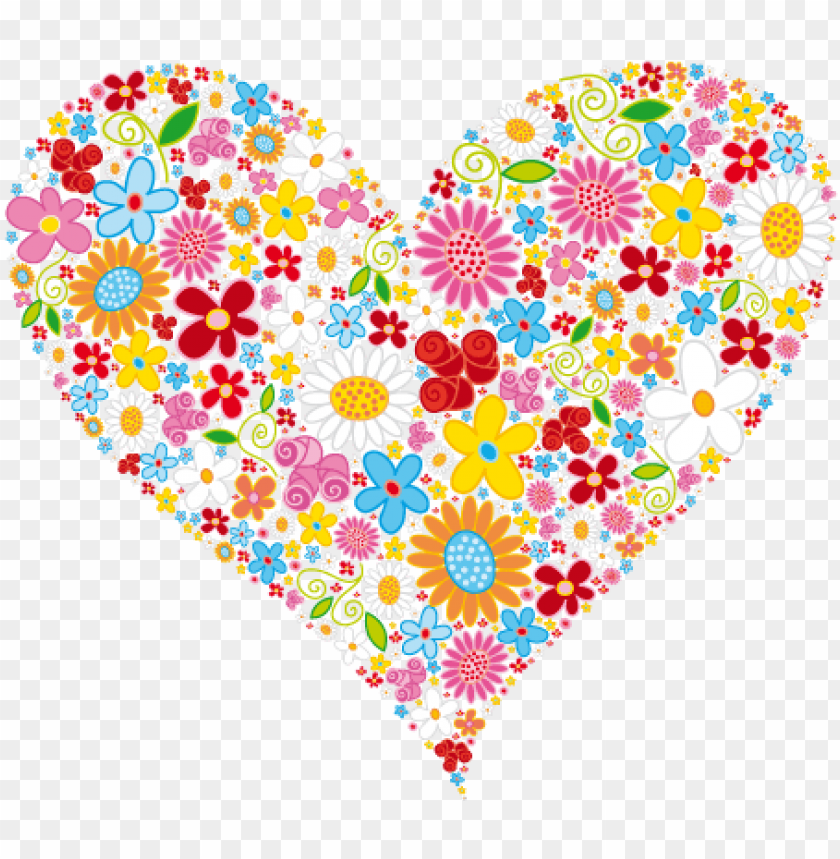 heart clipart heart & flower designs heart of flowers.