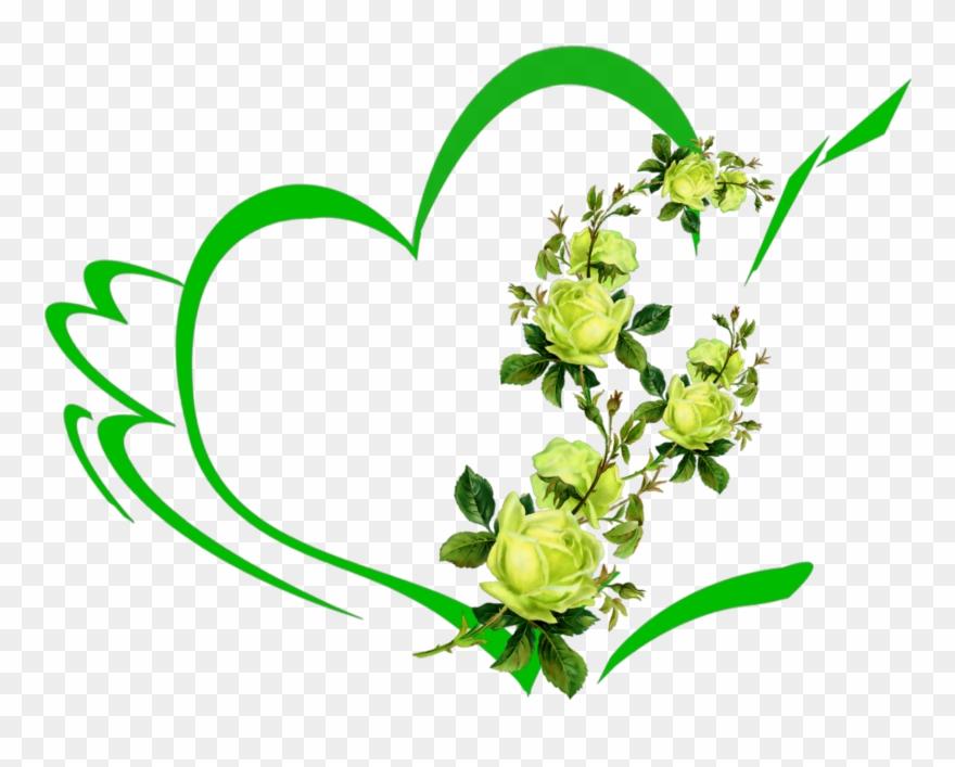 Mq Green Heart Hearts Flowers Flower Roses.