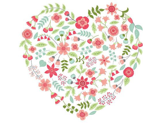 Flower Heart Clipart.