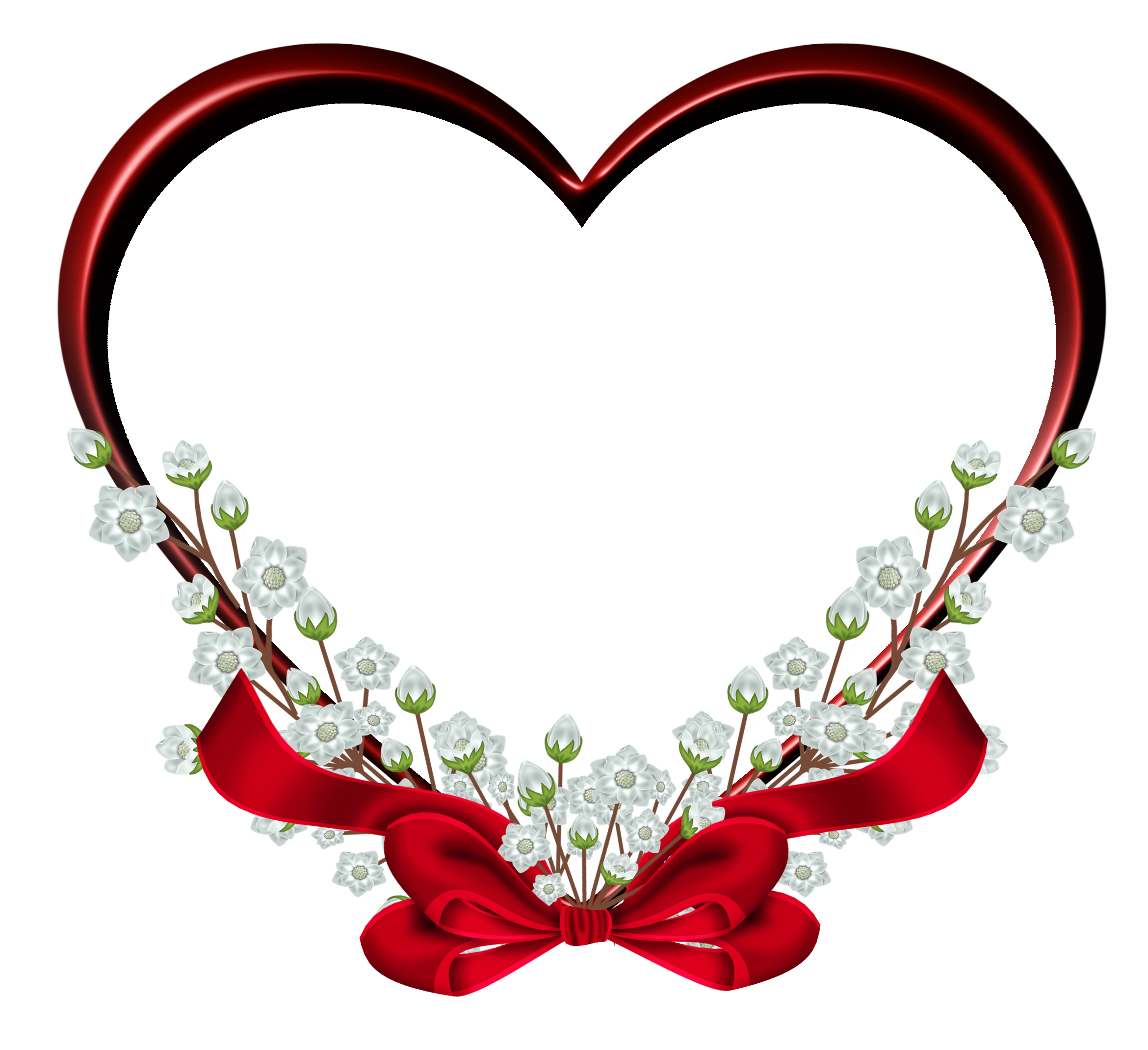 Pin by Janett Cepeda on Transparent Red Heart Frame Decor.