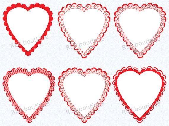 Clipart Heart Frames, Clip Art Heart Frames.