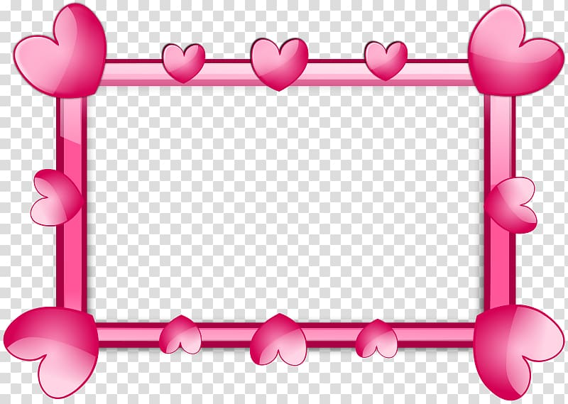 Pink frame filter with hearts, frame Heart Pink , Pink.