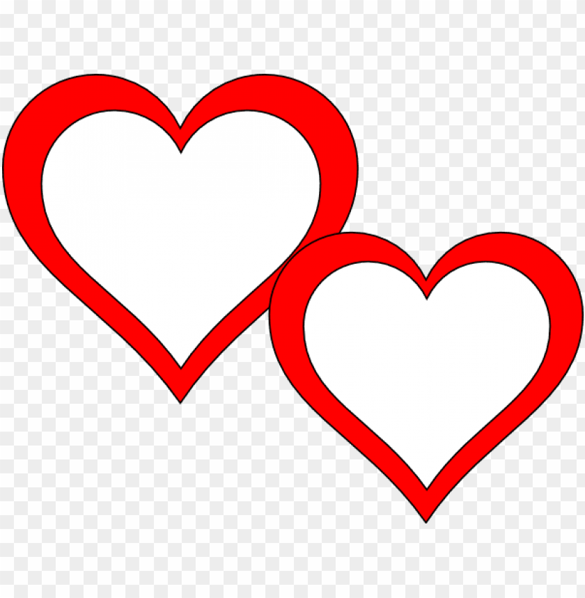 two hearts touching clip art.