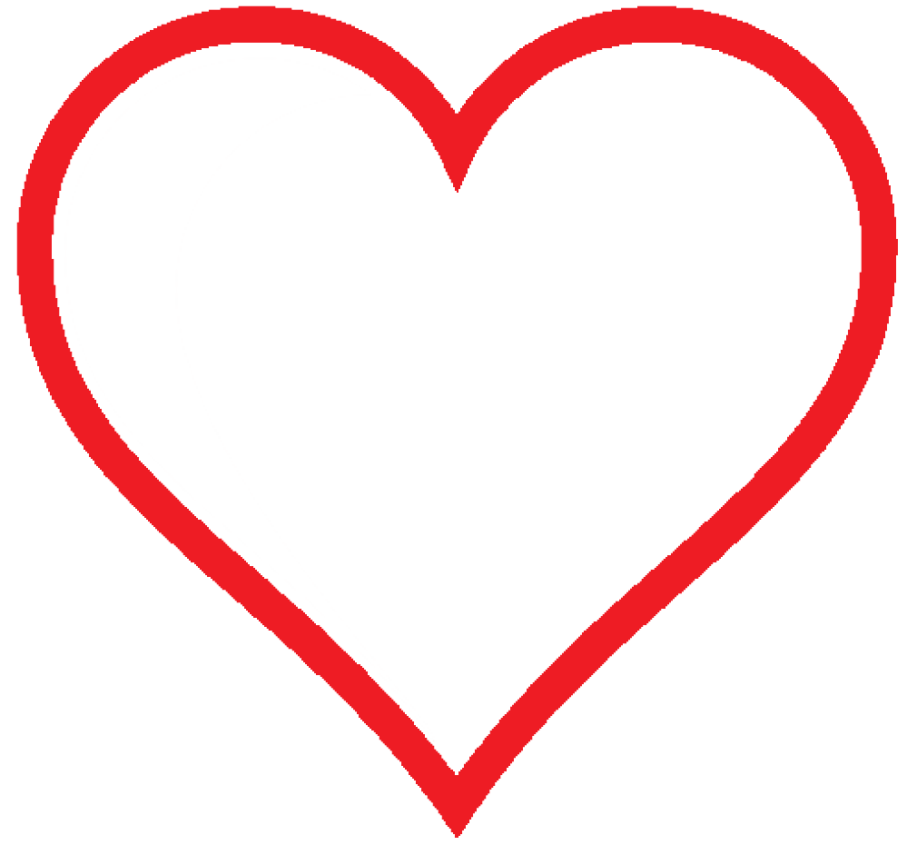 Clip Art: heart icon red hollow valentine SVG.